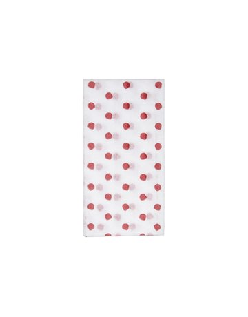 Papersoft red dot guest towel