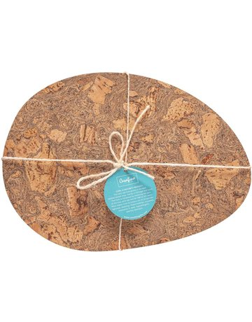 Cork oval placemat