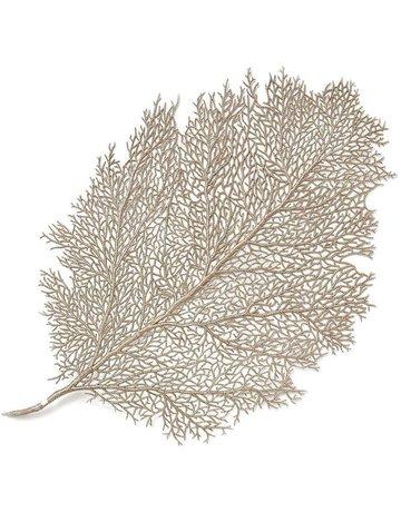 Metallic leaf placemat