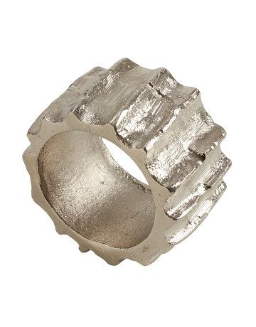 Ribbed aluminum napkin ring
