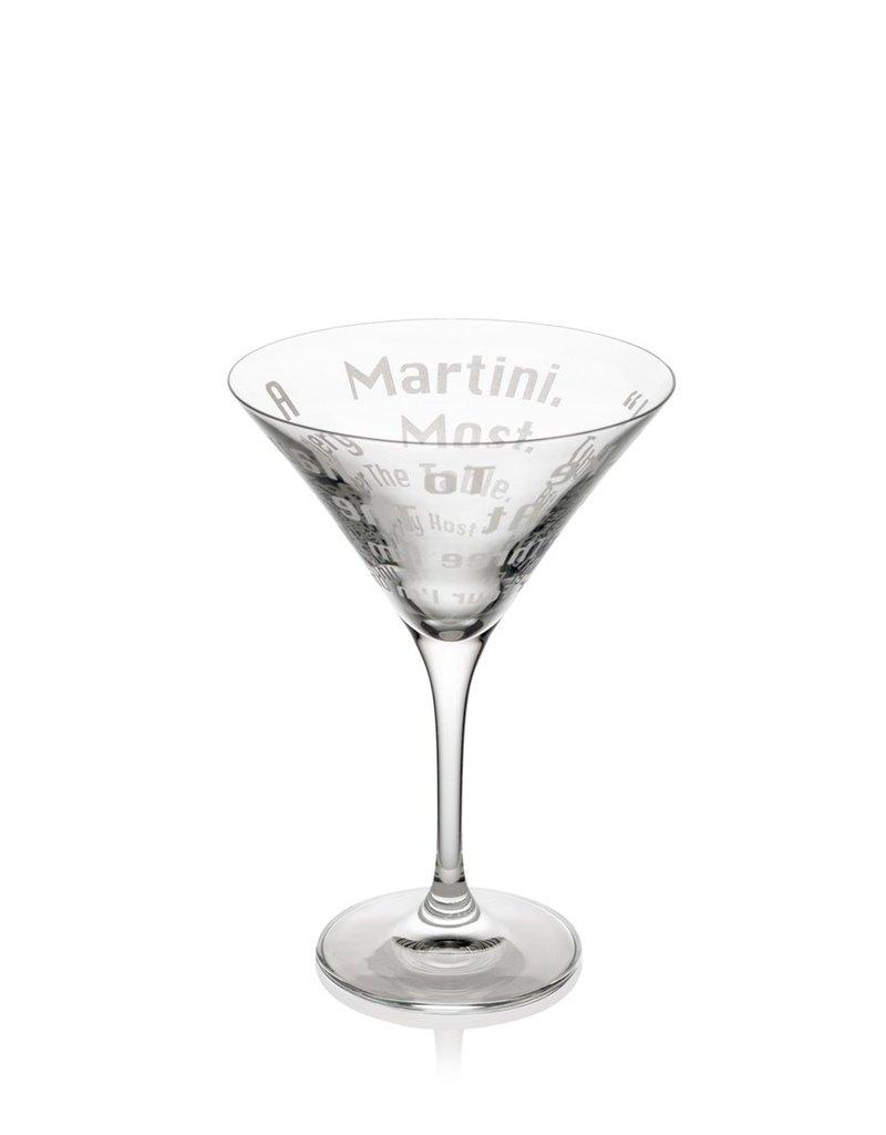 Dorothy Parker martini glass