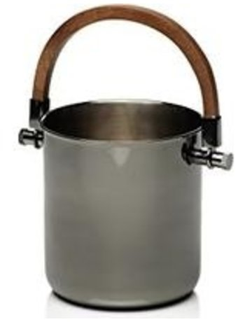 Metal bucket wood handle