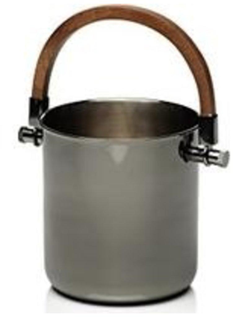 Metal wine bucket wood handle