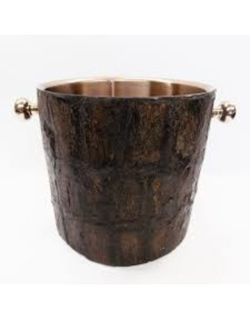 Bark bucket rose gold inside
