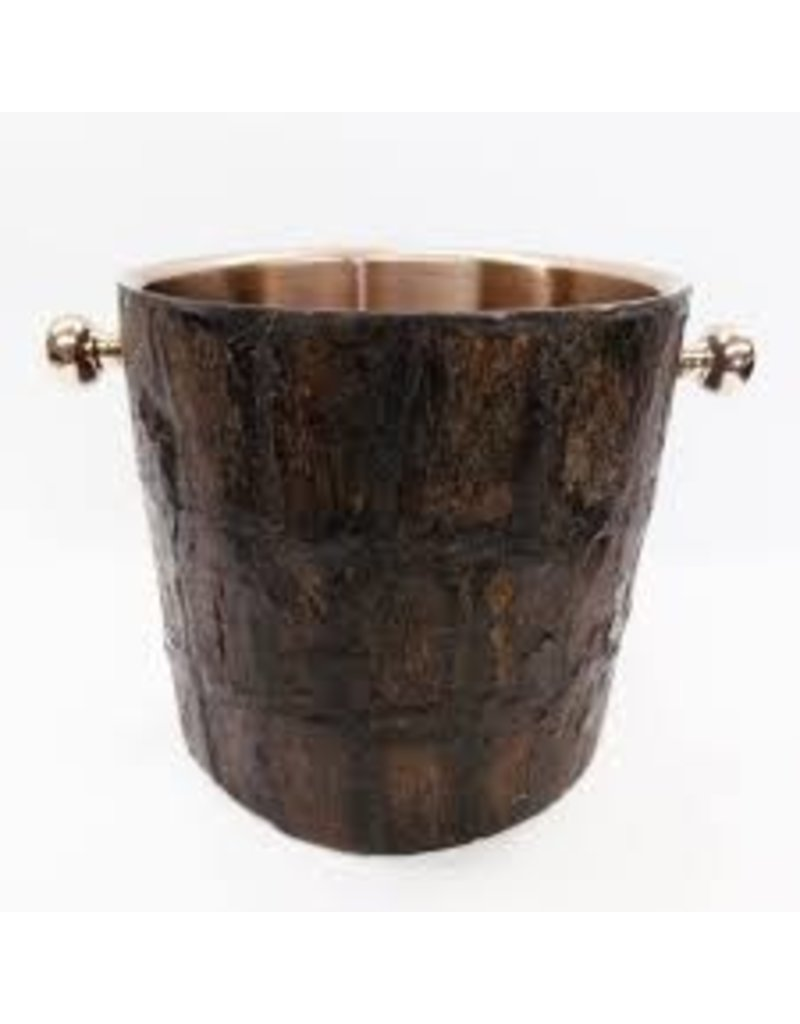 Bark wine bucket rose gold inside