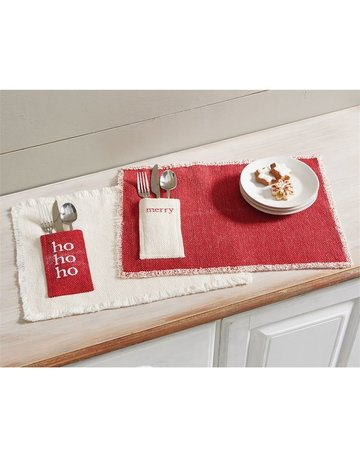 Holiday dhurrie placemat