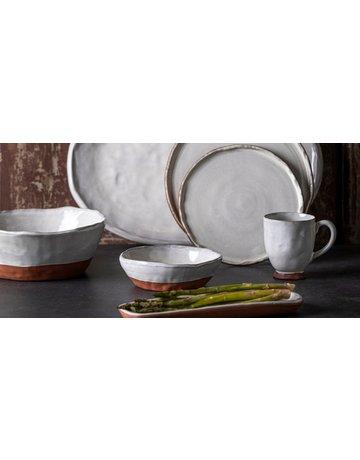 Argila salad bowl, white