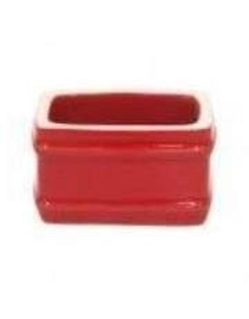 Red square napkin ring