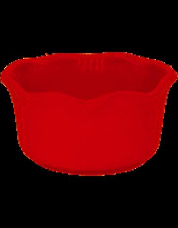 Red oval ramekin
