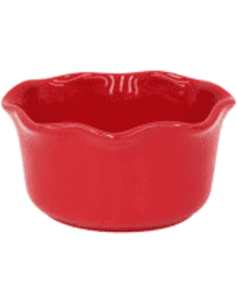 Red oval ramekin