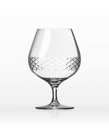 Diamond brandy glass