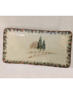 Arte trees rectangle platter