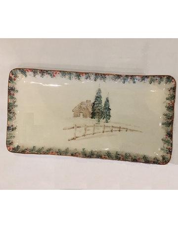 Arte trees rectangle platter