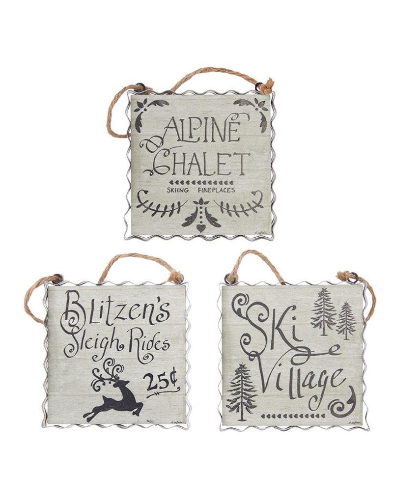 Alpine holiday ornament