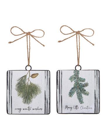 Winter wishes ornament