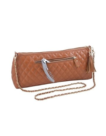 Leather wine clutch