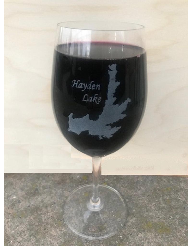 Hayden Lake Riedel glass