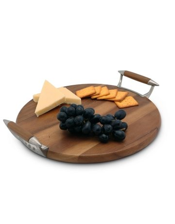 Wood & Pewter cheese board