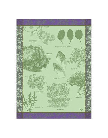 LJF Salades Illustrees tea towel