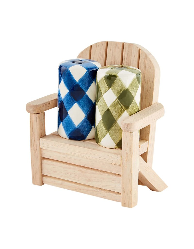 Salt & Pepper in Adirondack chair