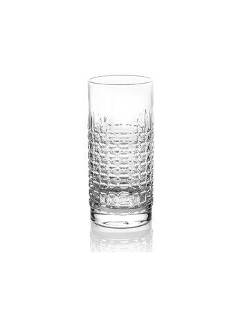 Shake Stir crystal water glass