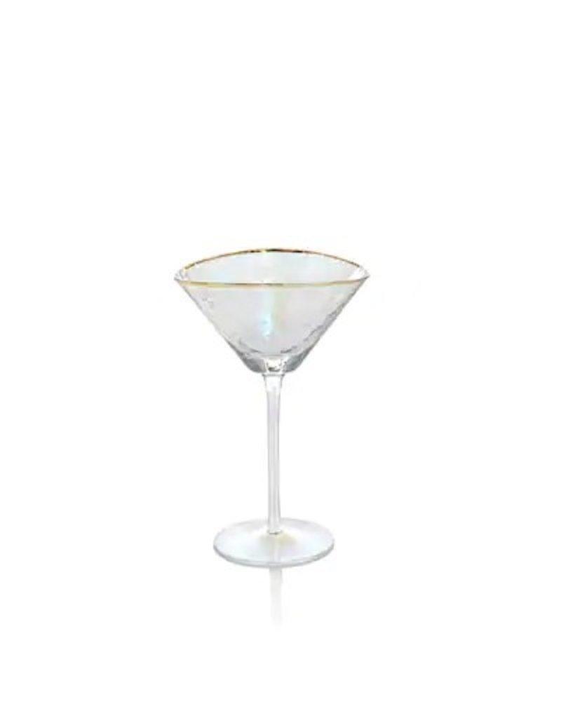 Triangle martini gold rim