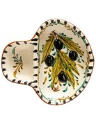 Hand painted olive dish, small