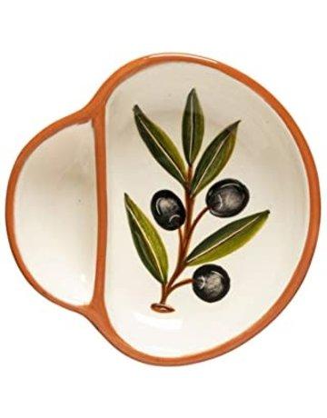 Hand painted olive dish, medium