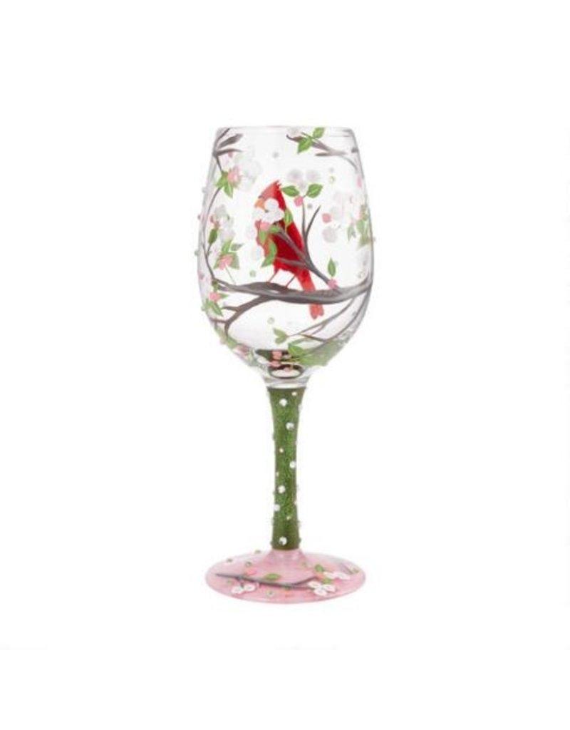 Cardinal wine glass