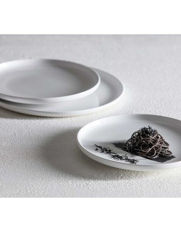 White coupe salad plate