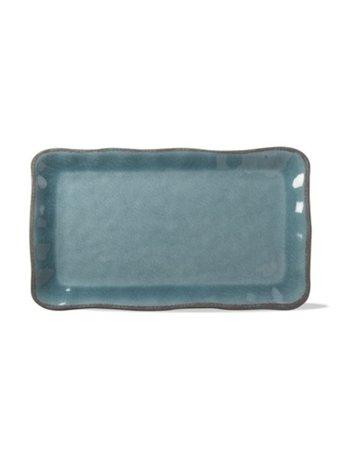 Aqua melamine platter