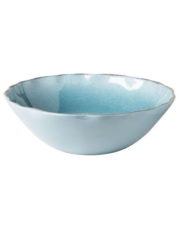 Aqua melamine serve bowl