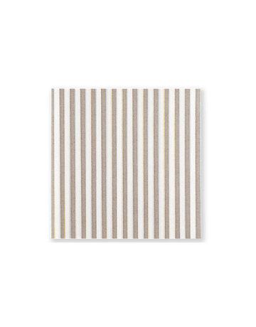 Papersoft tan stripe bev napkin