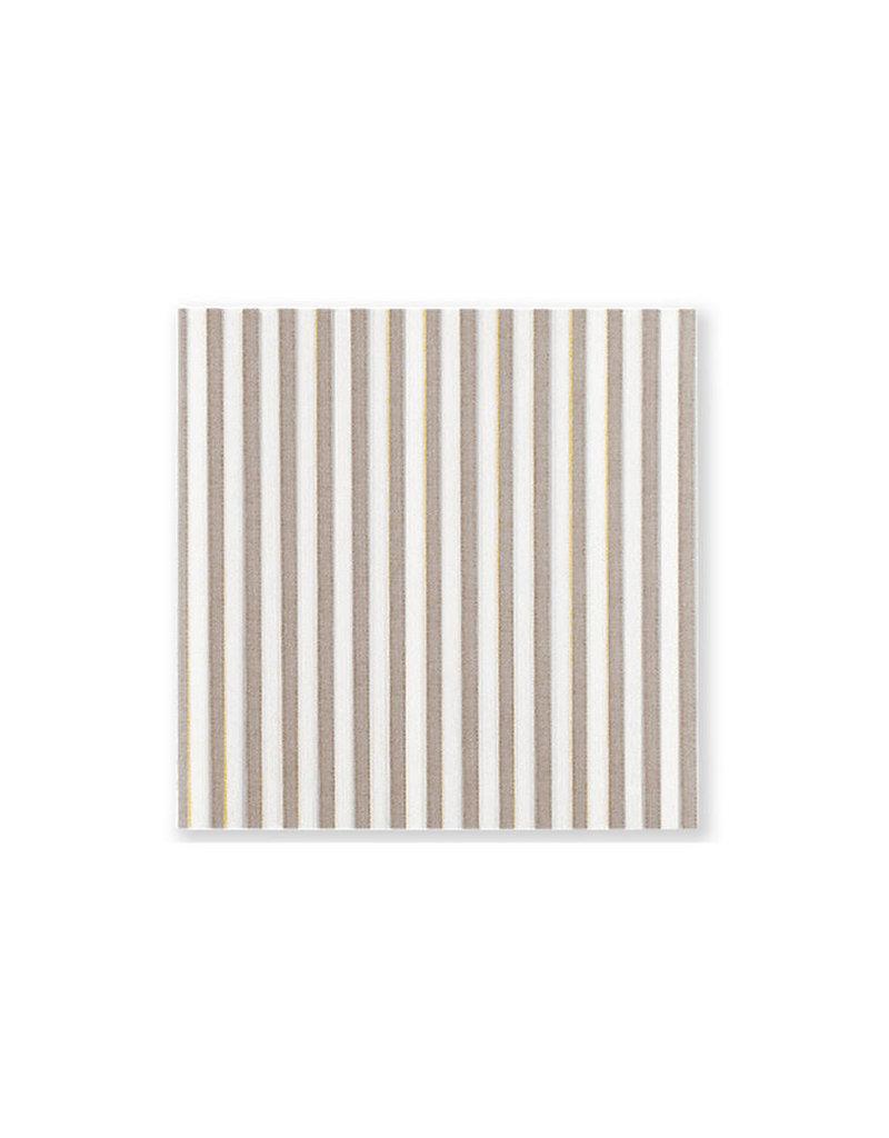 Papersoft tan stripe beverage napkin