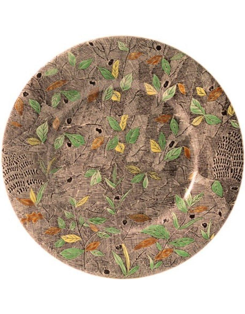 Hand painted foliage platter