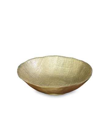 Gold textured salad bowl