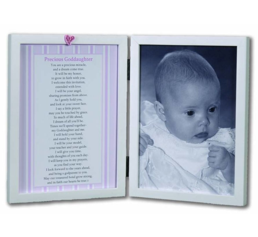 Precious Goddaughter 5x7 Double Frame Sacred Heart Gifts Apparel