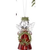 Teeny Misletoe Angel Ornament