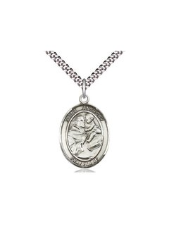 St. Anthony Oval Medal with Chain