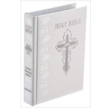 NABRE Catholic Wedding Bible-White Bond