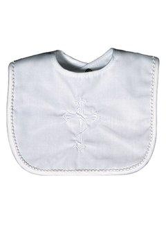 Cotton Snap Bib w/ Cross