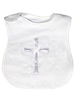 Medium Cotton Bib w/ Satin Cross
