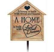 Home is Built - Garden Stake