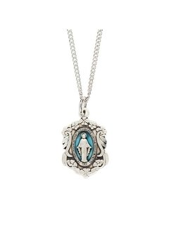 "SS Miraculous Medal w/ 18"" Ch"
