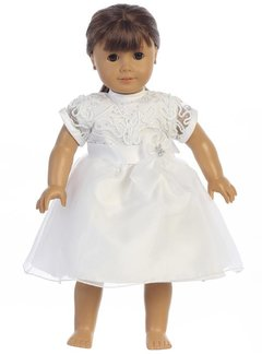 Communion Doll Dress Lace
