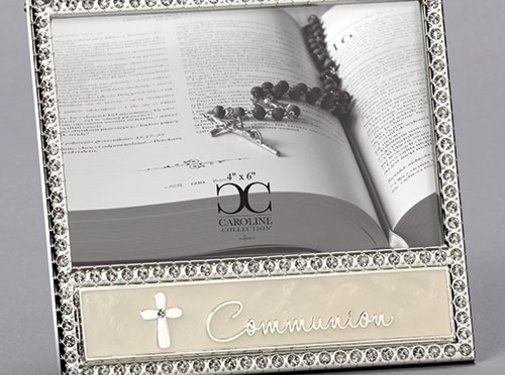 "Communion Frame with Rhinestones 6""H"