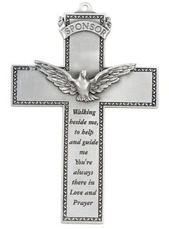 "5"" Pewter Confirmation Wall Cross"