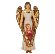 Guardian Angel with Girl Statue & Prayer Card