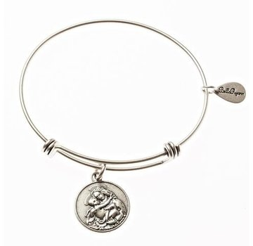 Blessed Mother Silver Tone Bella Ryann Bangle