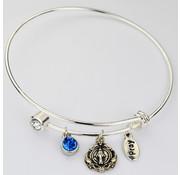 Bangle Bracelet w/ Miraculous Medal